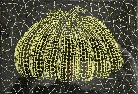 No Technical Kusama - Pumpkin, 1997, Acrylic on Canvas