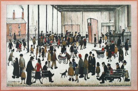 Lithograph Lowry - Punch And Judy