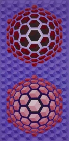 Multiple Vasarely - Purple long
