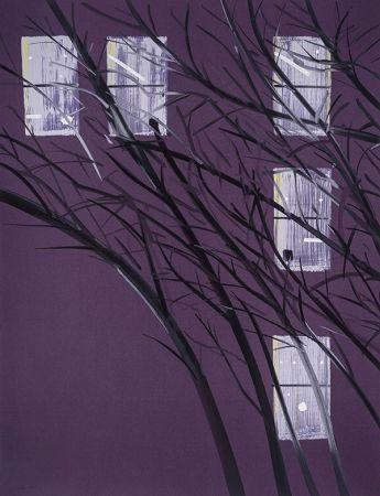 Screenprint Katz - Purple Wind