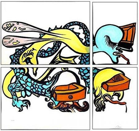 Lithograph Dali - Puzzle of Life
