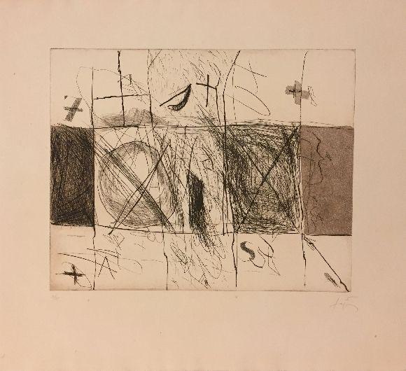Etching And Aquatint Tàpies - Quadrats i grafismes