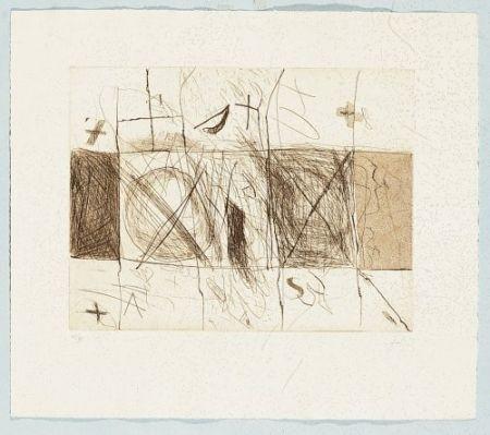 Etching Tàpies - Quadrats i grafismes