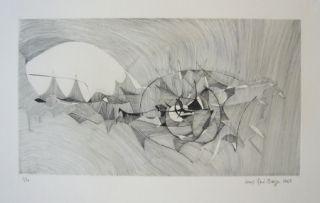 Etching Berge - Quadrige