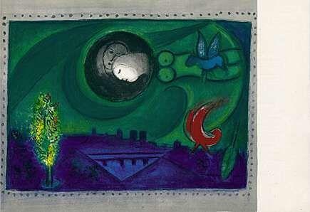 Lithograph Chagall - Quai de Bercy