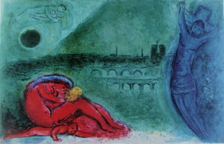 Lithograph Chagall - Quai De La Tournelle (Regards Sur Paris)