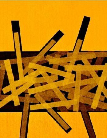 Engraving Bury - Quatre bâtons entre deux