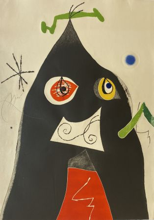Etching And Aquatint Miró - Quatre Colors Aparien El Mon I (Four Colors will Beat the World I)