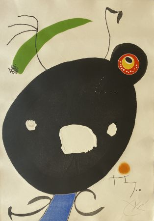 Etching And Aquatint Miró - Quatre Colors Aparien El Mon IV (Four Colors will Beat the World IV)