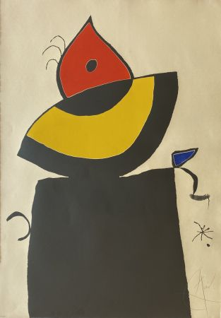 Etching And Aquatint Miró - Quatre Colors Aparien El Mon V (Four Colors will Beat the World V)