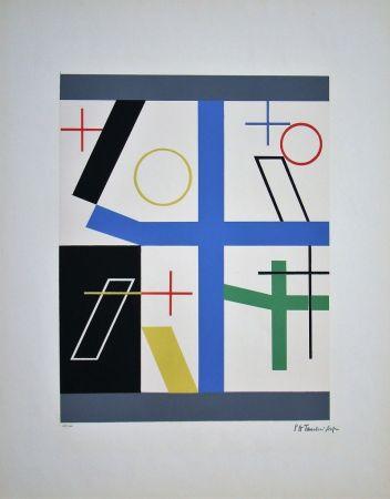 Screenprint Taeuber-Arp - Quatre espaces à croix brisée