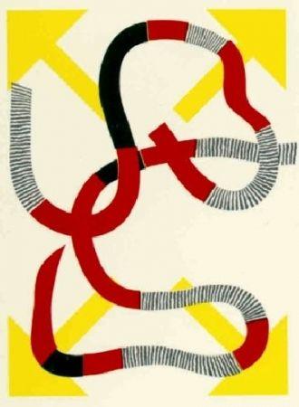 Lithograph Sugai - Quatre flèches