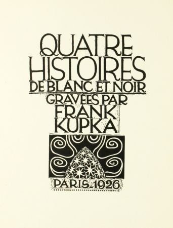 Woodcut Kupka - Quatre histoires de blanc et noir