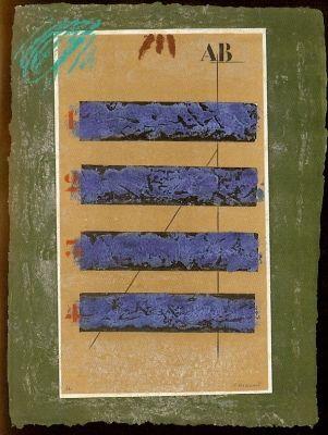 Etching Coignard - Quatre Horizontales