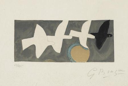 Lithograph Braque - Quatre Oiseaux