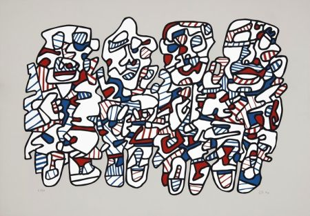 Screenprint Dubuffet - Quatre personnages