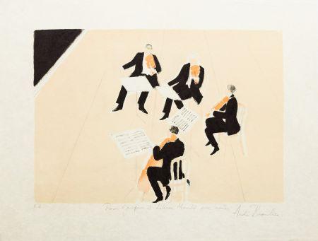 Lithograph Brasilier - Quatuor