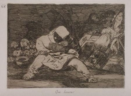 Etching Goya - QUE LOCURA!