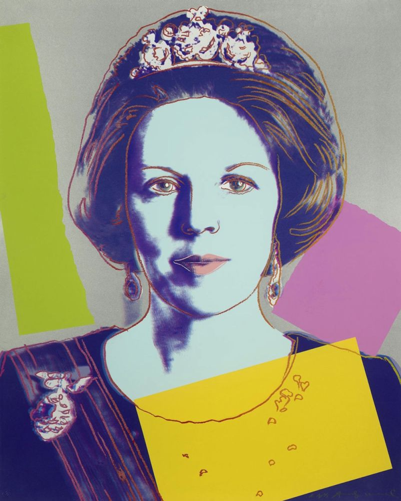 Screenprint Warhol - Queen Beatrix of the Netherlands (FS II.340)