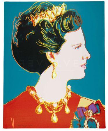 Screenprint Warhol - Queen Margrethe Ii Of Denmark 343 By Andy Warhol