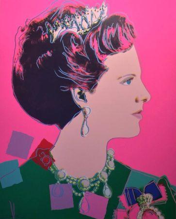 Screenprint Warhol - Queen Margrethe II of Denmark (FS II.345)