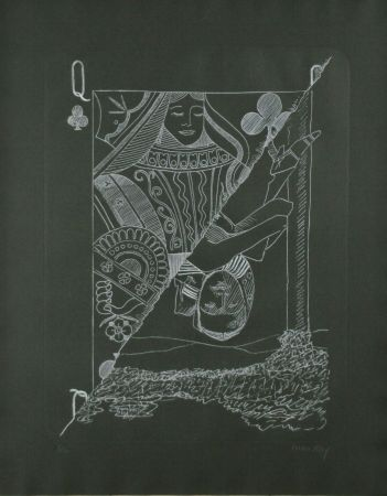 Etching Ray - Queen of Spades