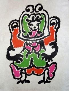 Lithograph Lapicque - Quetzalcoalt