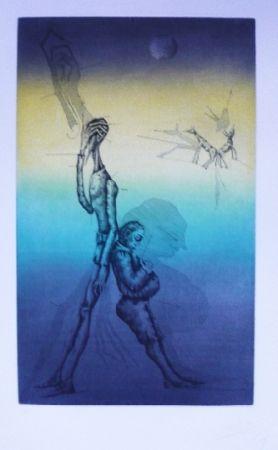 Etching And Aquatint Ponç - Quichotte 13