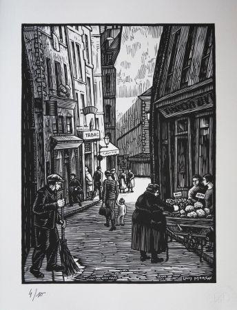 Woodcut Moreau - Quimper (Bretagne) / Quimper (Brittany - France) - 1910