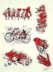 Lithograph Arman - Résister Colère