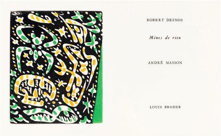 Illustrated Book Masson - R. Desnos: MINES DE RIEN. 4 gravures originales en couleurs (1957).