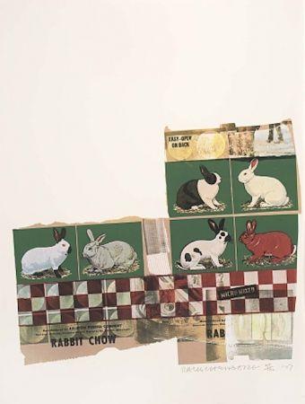 Screenprint Rauschenberg - Rabbit Chow, from Chow Bags