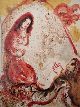 Lithograph Chagall - Rachel dérobe les Idoles de son Père