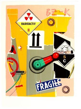 Lithograph Klasen - Radioactif fragile