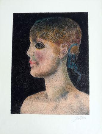 Lithograph Gentilini - Ragazza di Roma