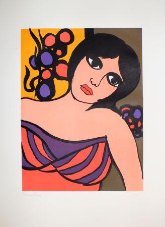 Lithograph Borra - Ragazza / Girl
