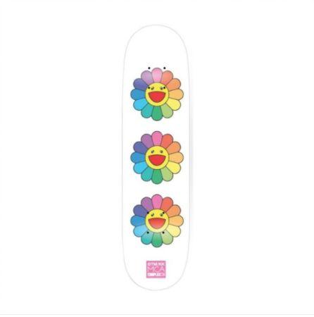 No Technical Murakami - Rainbow Flower Skate Deck
