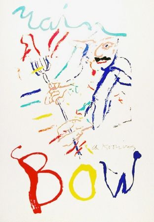 Lithograph De Kooning - Rainbow: Thelonius Monk, Devil at the Keyboard