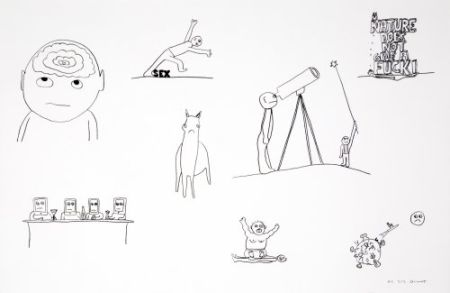 Lithograph Breuning  - Random thoughts about life 2