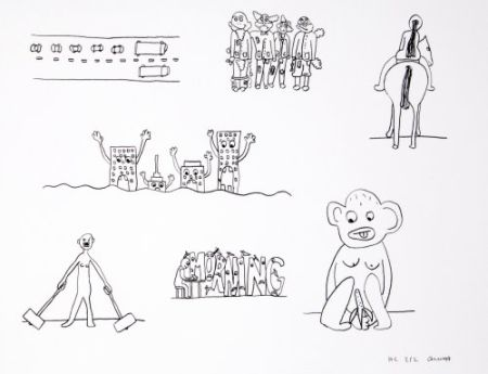 Lithograph Breuning  - Random thoughts about life 9