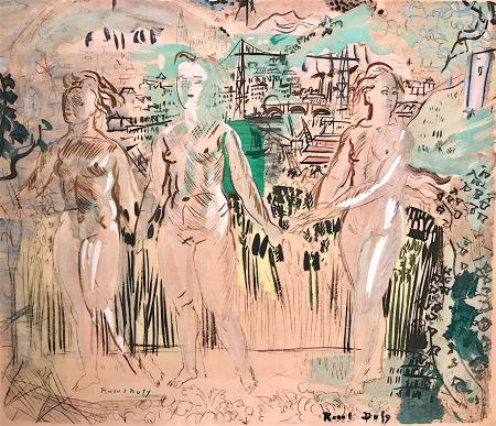 Lithograph Dufy - Raoul DUFY- Les Trois Grâces