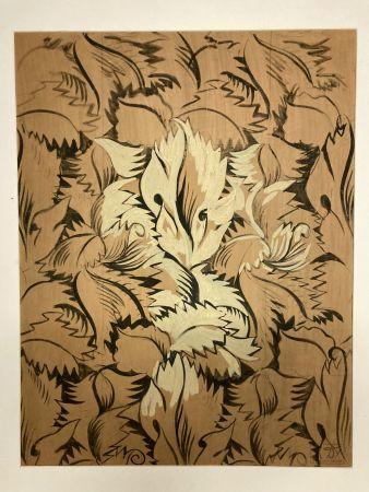No Technical Dufy - Raoul Dufy (1877-1953). Sans titre. Encre,gouache et aquarelle.