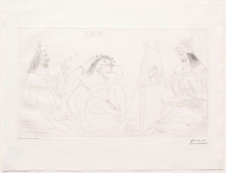 Etching Picasso - Raphael et la Fornarina VII