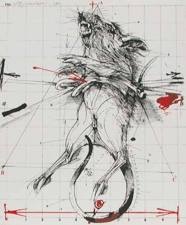 Lithograph Velickovic - RAT