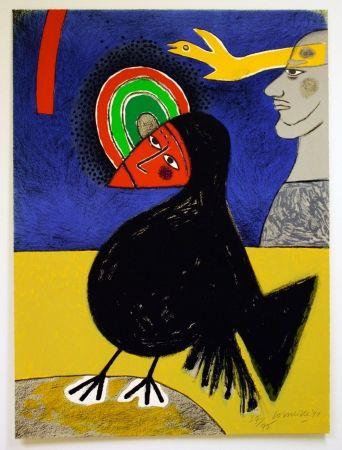 Lithograph Corneille - Raven no. 3