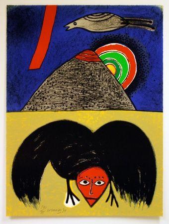 Lithograph Corneille - Raven No. 4
