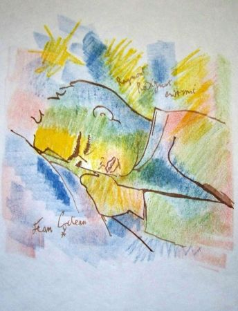 Lithograph Cocteau - Raymond radiguet