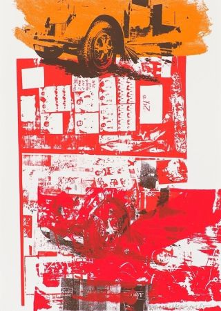Screenprint Rauschenberg - Read Bleed