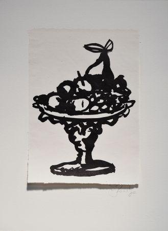 Linocut Kentridge - Rebus Fruitbowl
