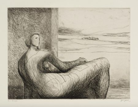 Etching And Aquatint Moore - Reclining Figure